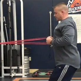 Alternate-arm speed row with band