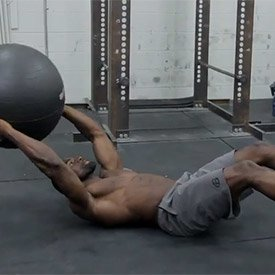 Stability-ball transfer crunch