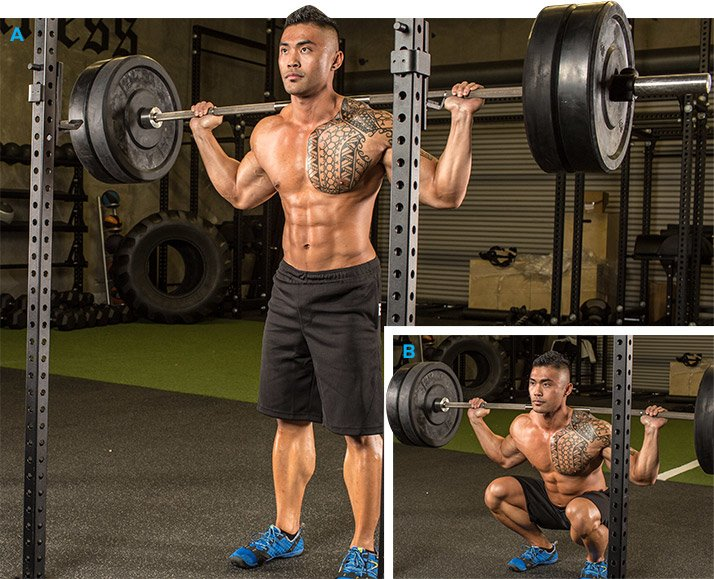Best Barbell Back Squat Major Muscles Worked Quads Hamstrings Glutes Calves
