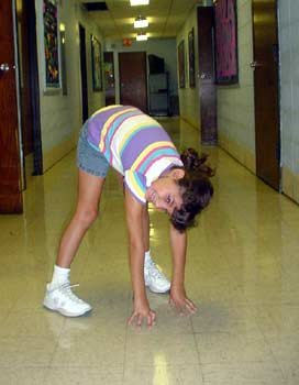 The inchworm stretches and strengthens the back  shoulder  hamstrings    Inch Worm Exercise Kids