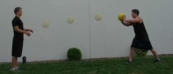 Plyometric Medicine Ball Chest Pass