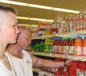 shopping for fruit juice