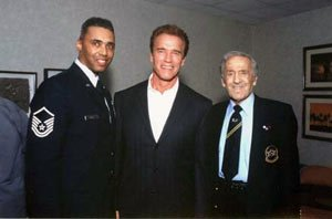 Rob Wilkins, Arnold, and Ben Weider