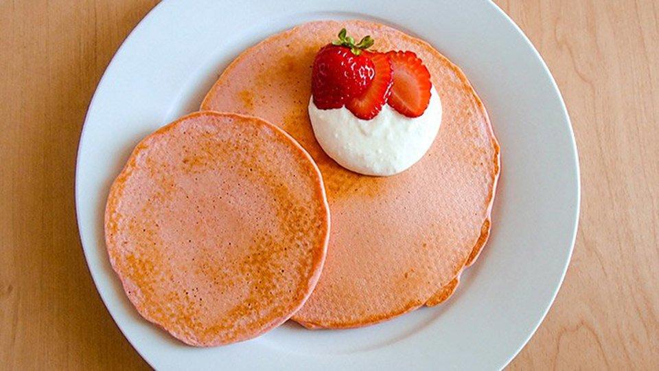 Red Velvet Muscle Milk Pancakes