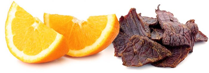Oranges and jerky