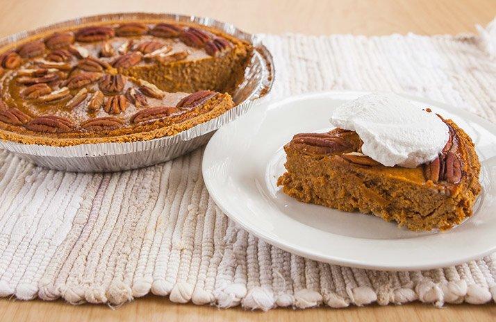Protein Pumpkin Pecan Pie