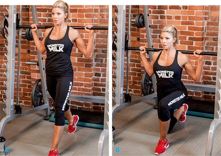 Image result for smith machine lunge