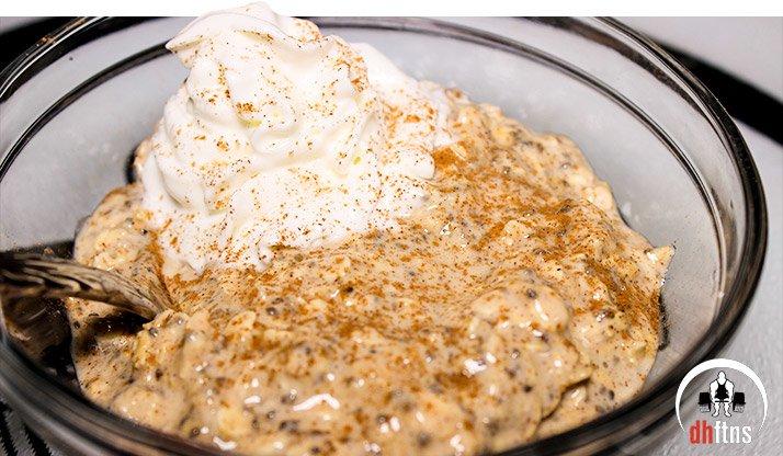 Eggnog Overnight Protein Oatmeal