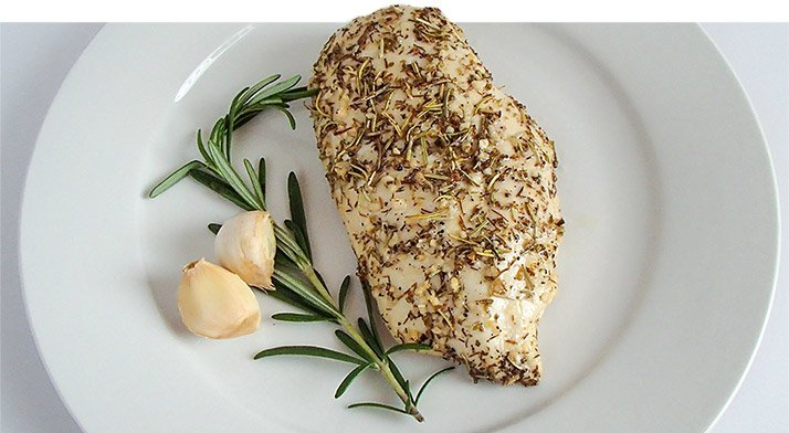How many grams of protein are in a chicken breast