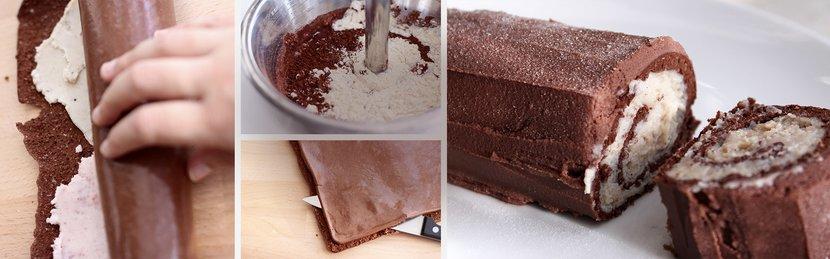 Holiday Yule Log Protein Cake