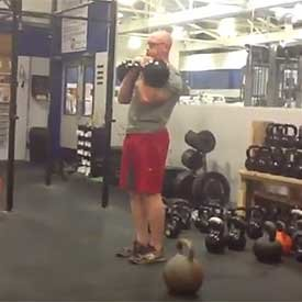 Rack kettlebell walk