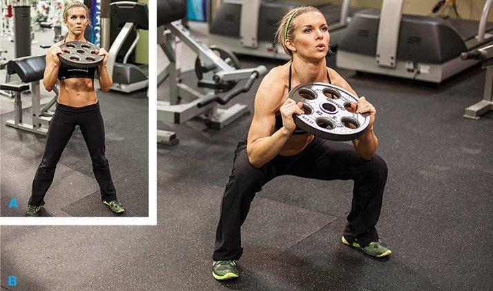 Plate Squat