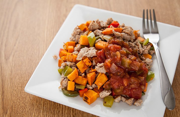 Ground Turkey and Sweet Potato Hash