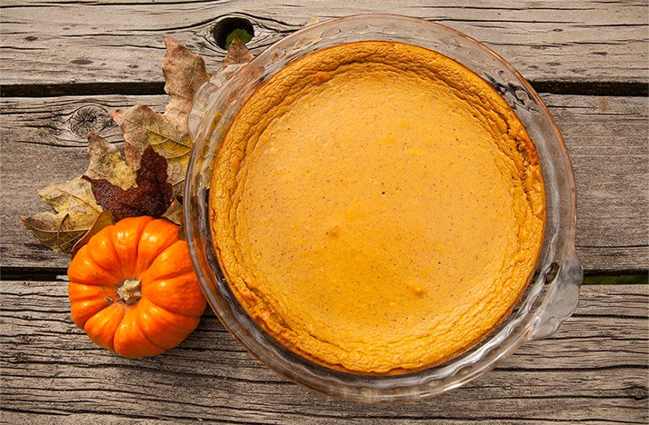 CRUSTLESS PROTEIN PUMPKIN PIE