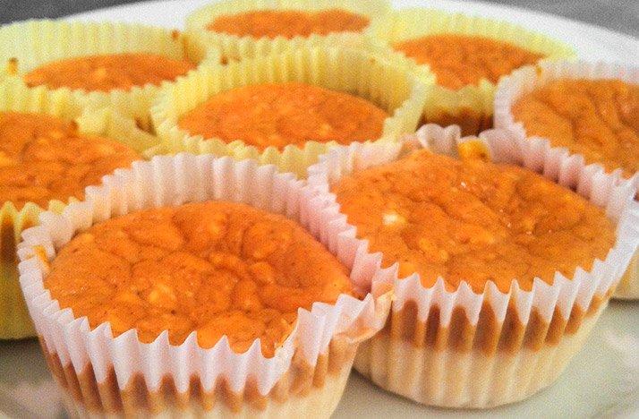 Layered Mini Pumpkin Cheesecakes