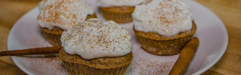 Cinnamon Swirl Protein Cupcakes
