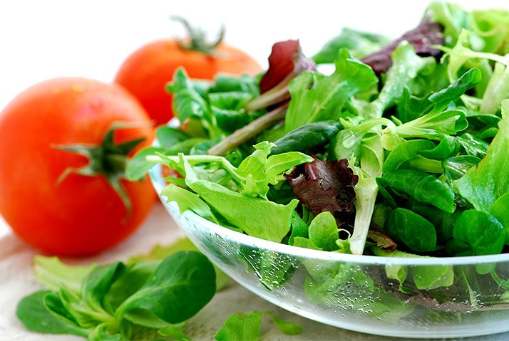 If you start with a salad, you will fill yourself up a little bit more with something nutritious before the real feasting begins.