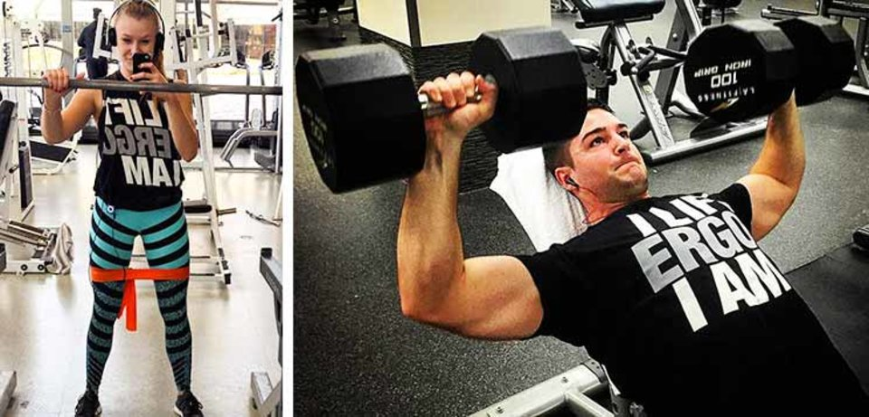 Live Love Lift Weights Gym Workout Life Bodybuilding Train Muscles Men/'s Thermal