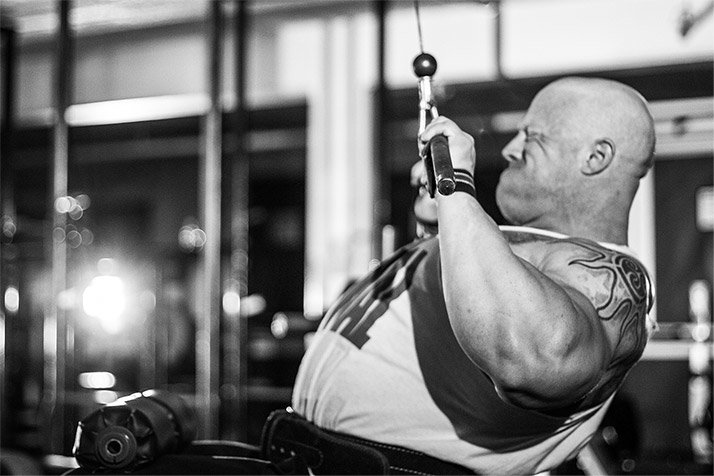Wide-Grip Lat Pulldowns