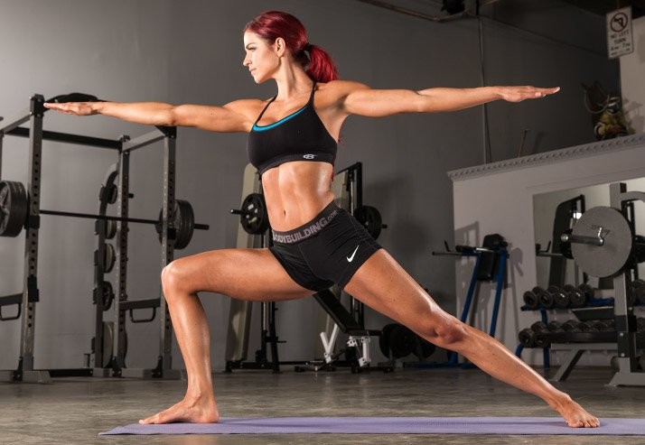 Yoga is equally effective at strengthening the body, especially the abs and back.