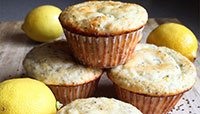 LEMON CHIA SEED PROTEIN MUFFINS