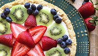 FRUIT TART WITH PROTEIN CRUST