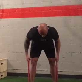 Band-resisted bent-over row