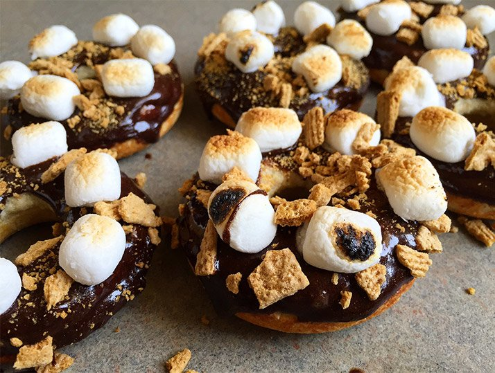 Healthy S'mores Protein Donuts!