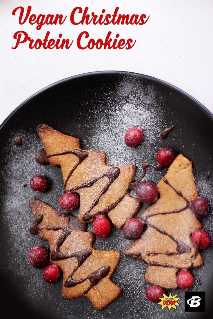 Vegan Christmas Protein Cookies