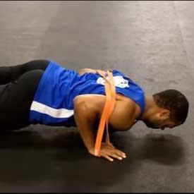 Band-resisted push-up