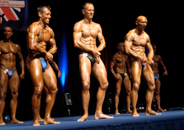 Mike Dancer competing in bodybuilding