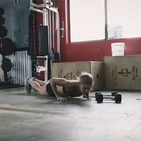 Burpee with side-to-side shuffle