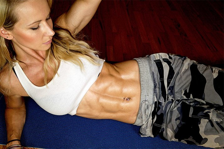 In order to enjoy visible abs, you have to maintain a fairly low body fat percentage.