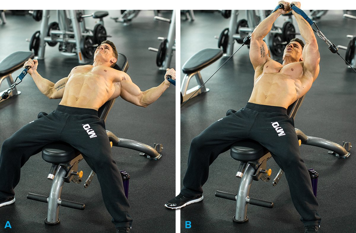 8 Incline Bench Cable Fly