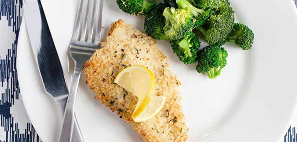 Parmesan-Crusted Baked Cod