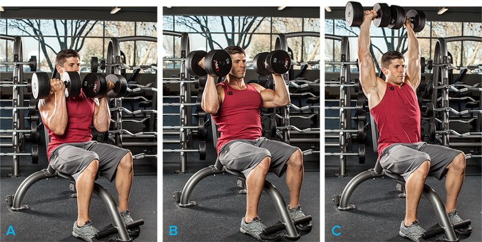 Arnold Dumbbell Press Separate Your Chest And Shoulder Workouts