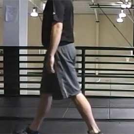 Single-leg deadlift walk