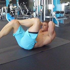 Feet-up crunch