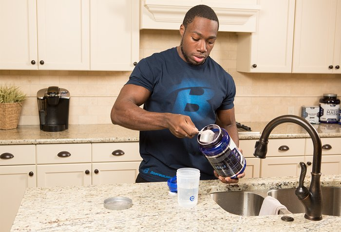 Mixing a protein shake