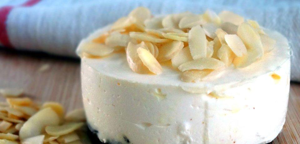 Vanilla Almond Protein Cheesecake