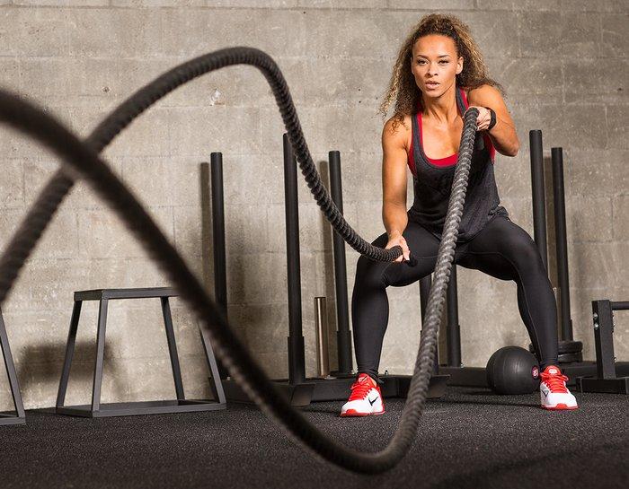 Cardio training with ropes