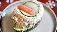 SALMON-SALAD-STUFFED AVOCADO