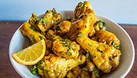 GOLDEN MUSTARD WINGS (WITH A LIL CURRY)