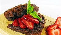 CHOCOLATE AVOCADO PROTEIN BROWNIES