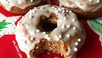 ICED GINGERBREAD PROTEIN DOUGHNUTS