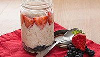 STRAWBERRY SIEGE AND OAT COMPOTE