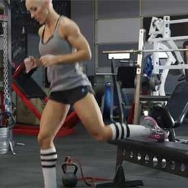 Bulgarian jump squat