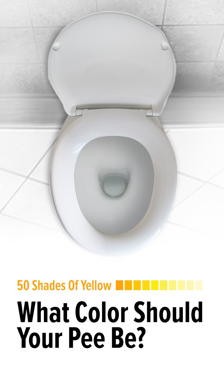 50 shades of yellow  what color should your pee be