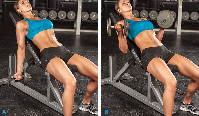 Exercise 2 Incline Dumbbell Curl