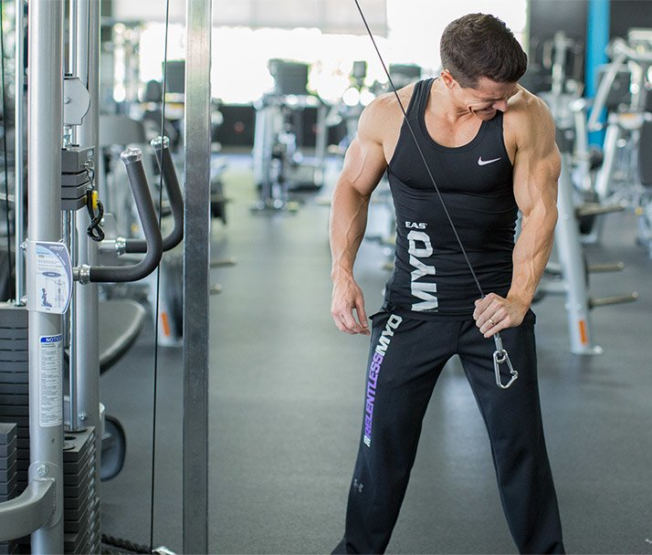 Cross Body Cable Triceps Extension